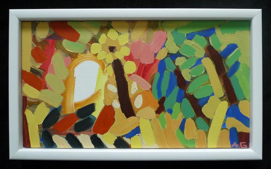 Daisy - Acrylic on Wood / 19cm x 32cm