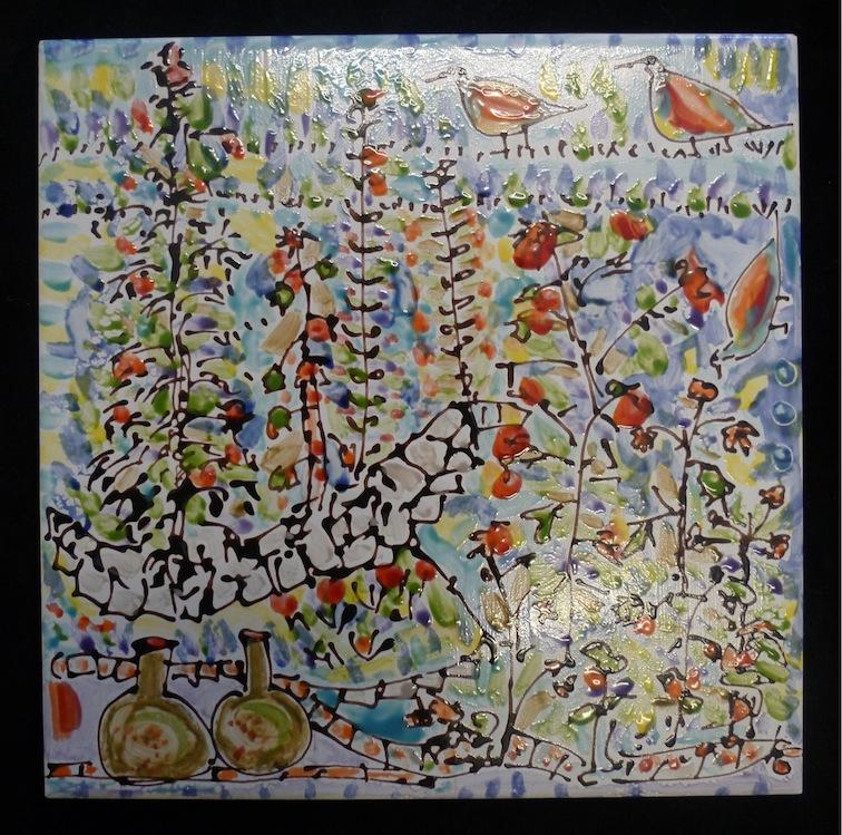 Garden Scene - Tile / 20cm x 20cm