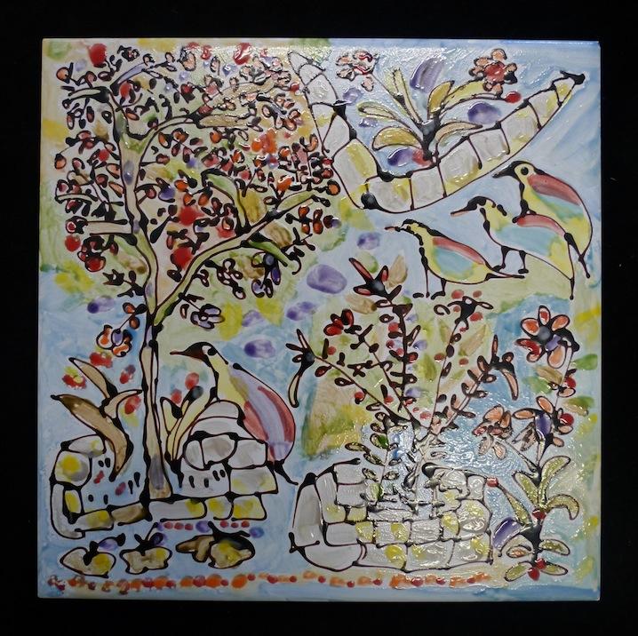 Garden Scene II - Tile / 20cm x 20cm