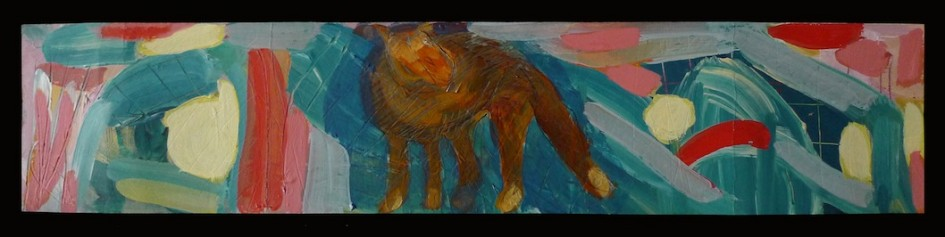 The Wolf - Acrylic on Paper / 9cm x 41cm
