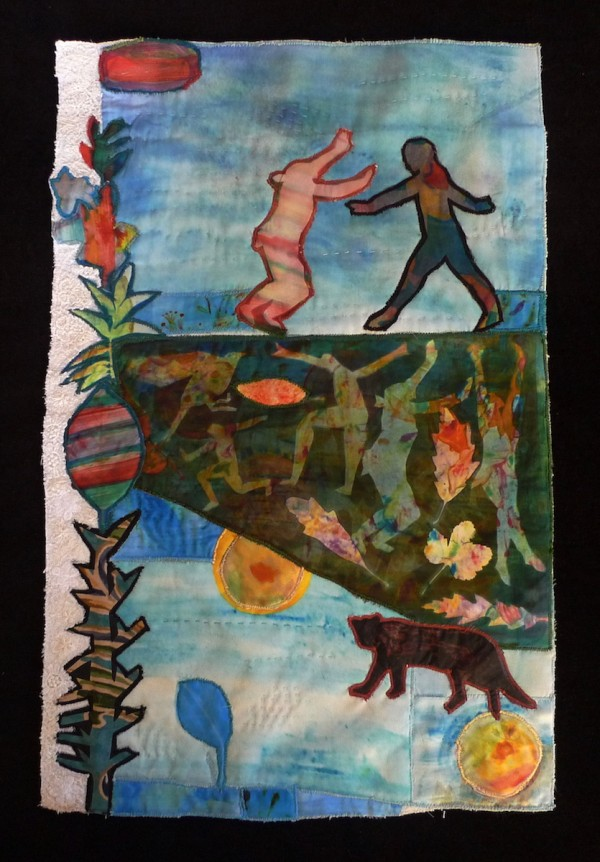 Scene from a Play — Textile Collage / 50cm x 33cm