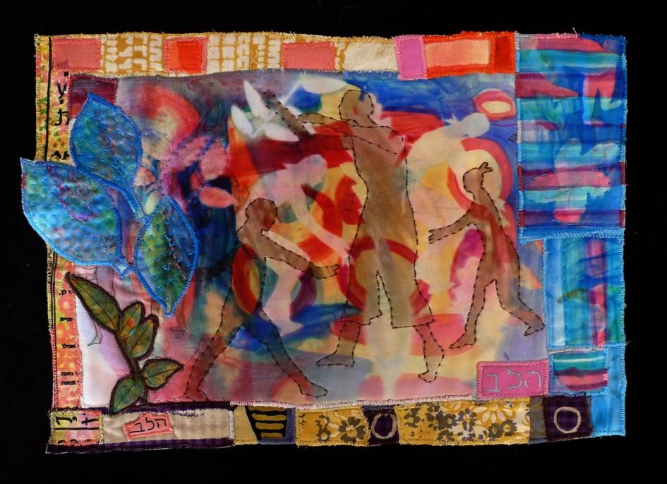 Silhouette — Textile Collage / 25cm x 36cm