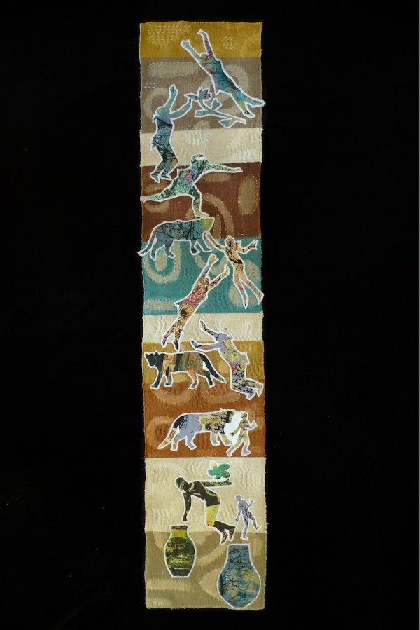 Stroll — Textile Collage / 89cm x 18cm