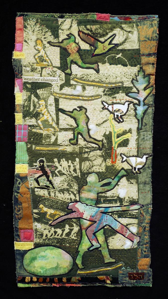 The Endless Run  — Textile Collage / 49 x 25cm