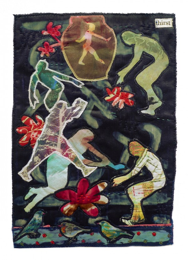 Thirst — Textile Collage / 31 x 21cm