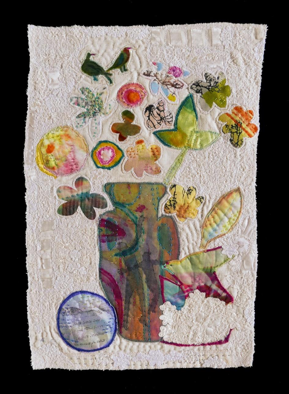 Pleasure — Textile Collage / 37 x 25 cm