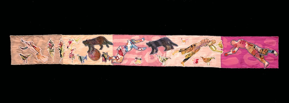 Frieze — Textile Collage /  111 x 12 cm