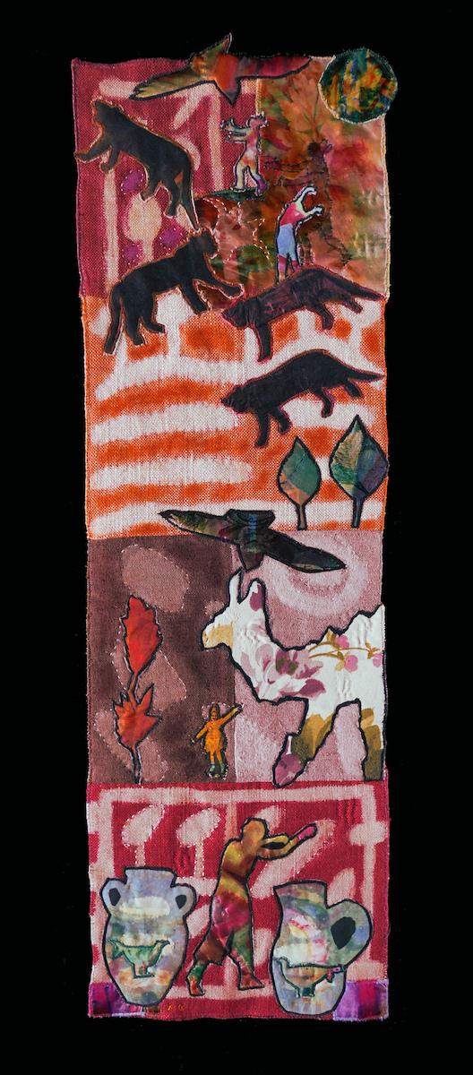 Historical Tale — Textile Collage / 79 x 25 cm
