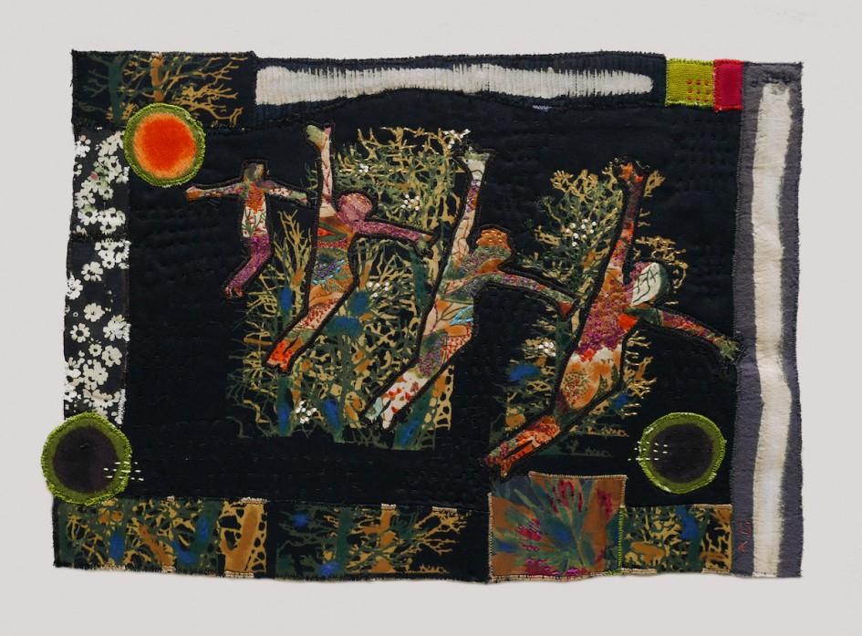 Quartet Dancing — Textile Collage /  27 x 40 cm
