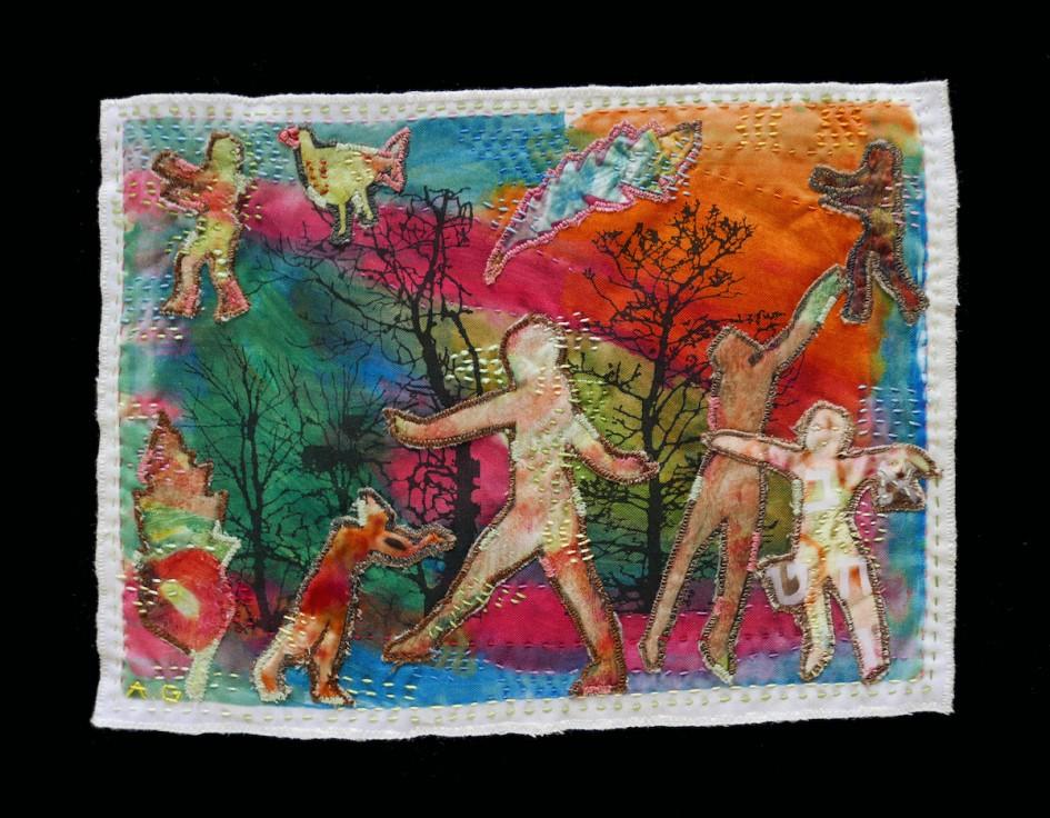 Steps — Textile Collage / 23 x 31 cm